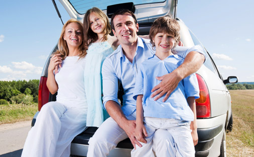 Happy family for Car Insurance Premium Calculator